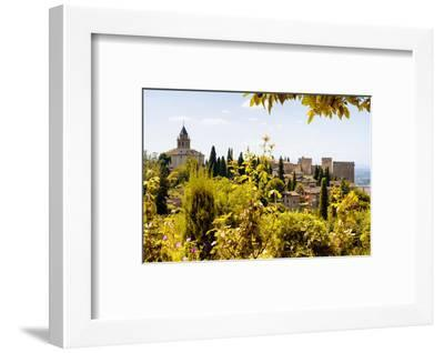 Made in Spain Collection - The beautiful Alhambra with Fall Colors-Philippe Hugonnard-Framed Photographic Print
