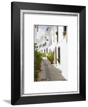Made in Spain Collection - White City Street of Mijas-Philippe Hugonnard-Framed Photographic Print