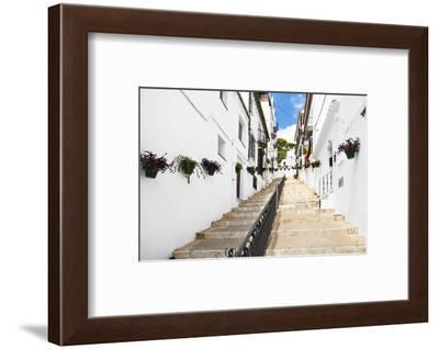 Made in Spain Collection - White village Staircase III-Philippe Hugonnard-Framed Photographic Print
