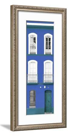 Made in Spain Slim Collection - Blue Facade of Traditional Spanish Building-Philippe Hugonnard-Framed Photographic Print