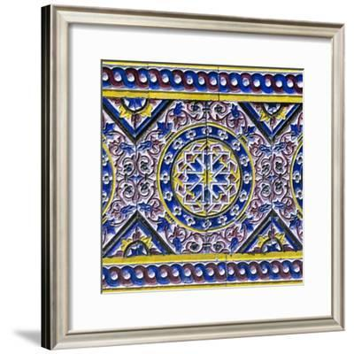 Made in Spain Square Collection - Colorful Mosaic III-Philippe Hugonnard-Framed Photographic Print
