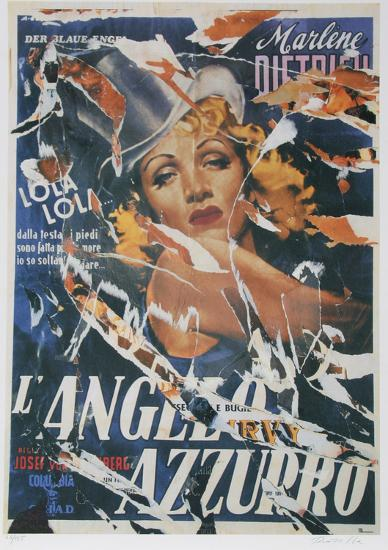 Made to Order Love (Marlene Dietrich)-Mimmo Rotella-Serigraph