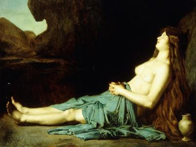 Madeleine in the Desert, C.1874-Jean-Jacques Henner-Giclee Print