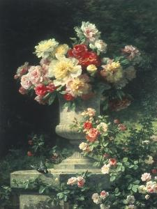 Peonies and Roses by Madeleine Lemaire