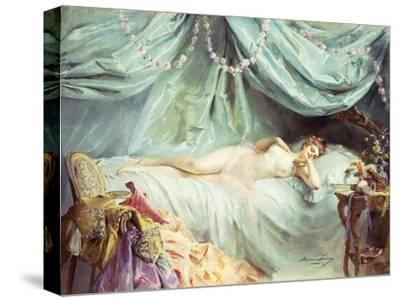 Reclining Nude in an Elegant Interior
