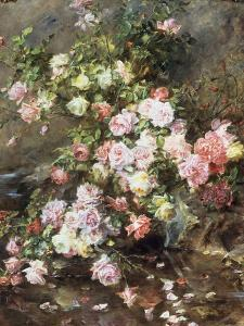 Roses on a River Bank by Madeleine Lemaire