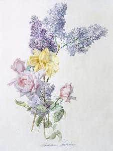 Study of Lilac and Roses by Madeleine Lemaire
