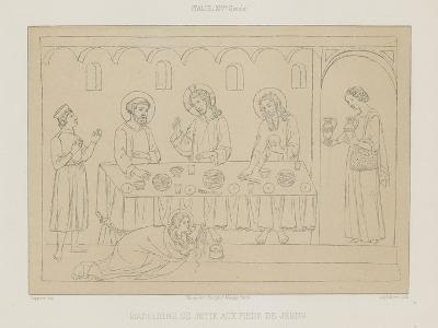 Madeleine Throws Herself at the Feet of Jesus--Giclee Print