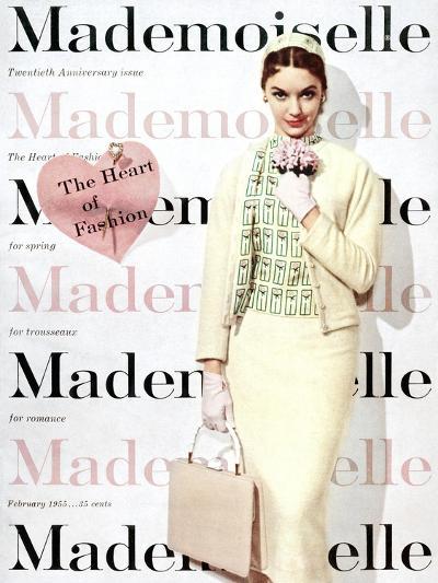 Mademoiselle Cover - February 1955-George Barkentin-Premium Giclee Print