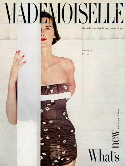 Mademoiselle Cover - January 1951-John Engstead-Premium Giclee Print