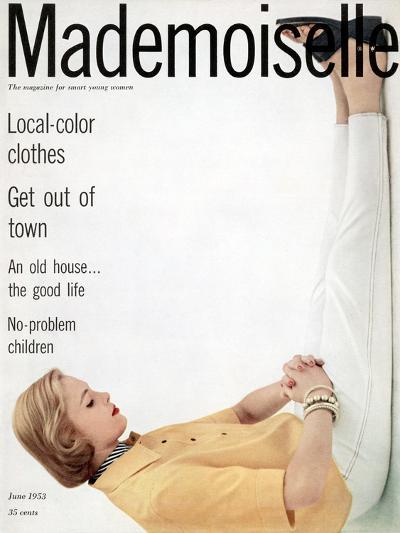 Mademoiselle Cover - June 1953-Herman Landshoff-Premium Giclee Print