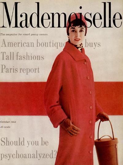 Mademoiselle Cover - October 1953-Stephen Colhoun-Premium Giclee Print