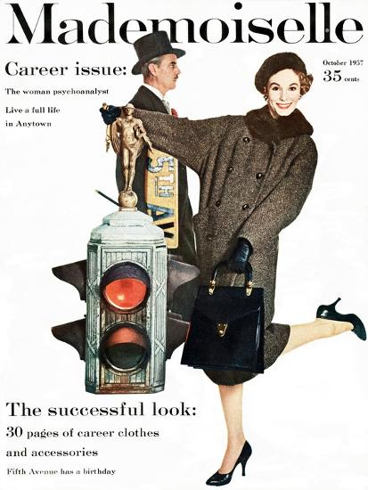 Mademoiselle Cover - October 1957-Stephen Colhoun-Premium Giclee Print