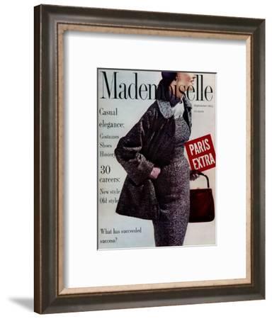 Mademoiselle Cover - September 1954-Stephen Colhoun-Framed Premium Giclee Print