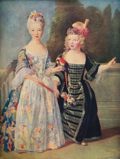 'Mademoiselle De Bethisy and her brother', c1715, (1911)-Unknown-Giclee Print
