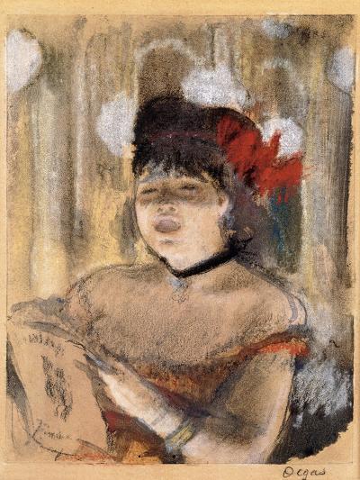 Mademoiselle Dumay, Singer, C.1879-Edgar Degas-Giclee Print