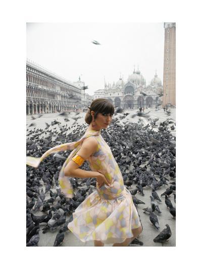 Mademoiselle - February 1966-George Barkentin-Premium Photographic Print