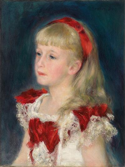 Mademoiselle Grimprel with a Red Ribbon, 1880-Pierre-Auguste Renoir-Giclee Print