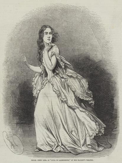 Mademoiselle Jenny Lind, as Lucia Di Lammermoor, at Her Majesty's Theatre-Charles Baugniet-Giclee Print