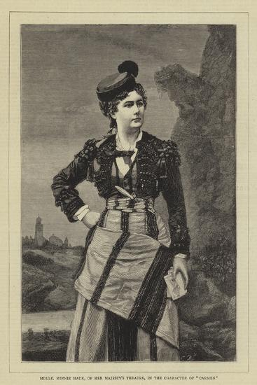Mademoiselle Minnie Hauk, of Her Majesty's Theatre, in the Character of the Carmen--Giclee Print