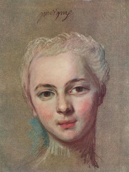 'Mademoiselle Puvigny', c1749-Maurice-Quentin de La Tour-Giclee Print