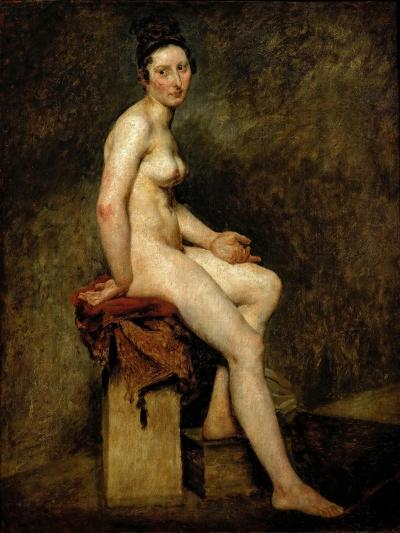 Mademoiselle Rose (Seated Nude)-Eugene Delacroix-Giclee Print