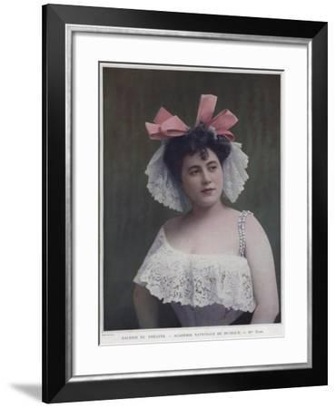 Mademoiselle Torri, French Actress and Singer--Framed Giclee Print