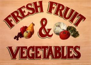Fruits & Vegetables Sign by Madison Michaels