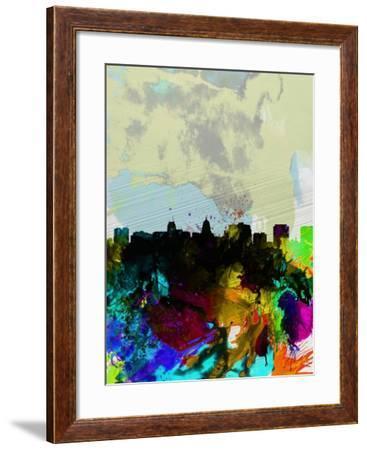 Madison Watercolor Skyline-NaxArt-Framed Art Print