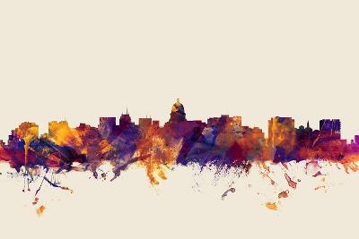 Madison Wisconsin Skyline-Michael Tompsett-Art Print