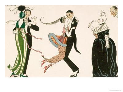 Madness of the Day, Engraved by H. Reidel For Friends of the Journal Des Dames et Des Modes, 1913-Georges Barbier-Giclee Print