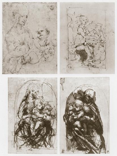 Madonna, 15th Century-Leonardo da Vinci-Giclee Print