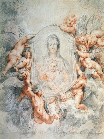 Madonna Adored by Angels (Madonna Della Vallicell), 1608-Peter Paul Rubens-Giclee Print