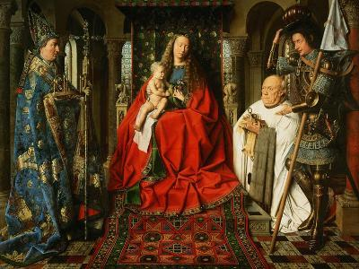 Madonna Adored by the Canonicus Van Der Paele-Jan van Eyck-Giclee Print