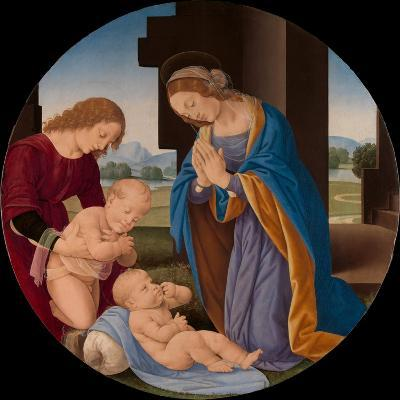 Madonna Adoring the Child with the Infant Saint John the Baptist and an Angel, c.1492-Lorenzo di Credi-Giclee Print