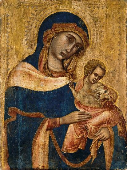 Madonna and Child, 2nd Quarter of the 14th Century (Tempera and Gold on Panel)--Giclee Print