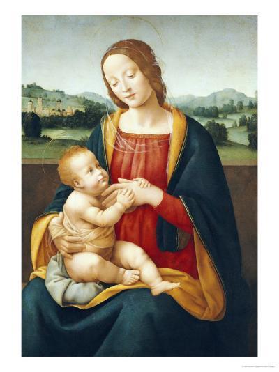 Madonna and Child Before a Landscape-Giovanni Sogliani-Giclee Print