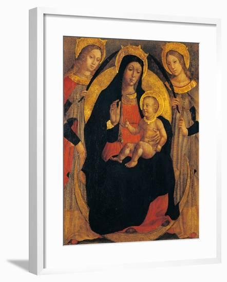 Madonna and Child Between St Apollonia and St Lucy--Framed Giclee Print