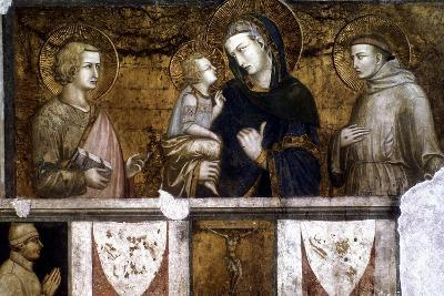 Madonna and Child Between St Francis and St John the Evangelist, C1320S-Pietro Lorenzetti-Giclee Print