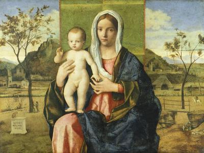 Madonna and Child Blessing-Giovanni Bellini-Giclee Print