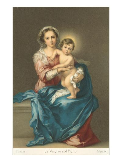 Madonna and Child by Murillo, Florence--Art Print