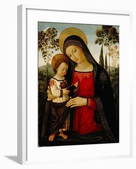Madonna and Child, c.1490-1495-Bernardino di Betto Pinturicchio-Framed Giclee Print