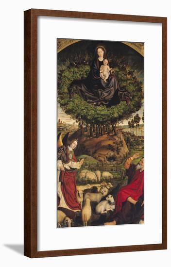 Madonna and Child, Central Panel from the Triptych of Moses and the Burning Bush, circa 1476-Nicolas Froment-Framed Giclee Print