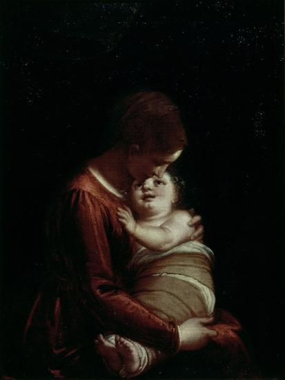 Madonna and Child, circa 1570-Luca Cambiaso-Giclee Print