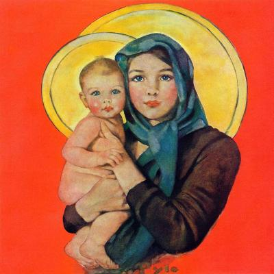 """Madonna and Child,""December 17, 1932-Ellen Pyle-Giclee Print"