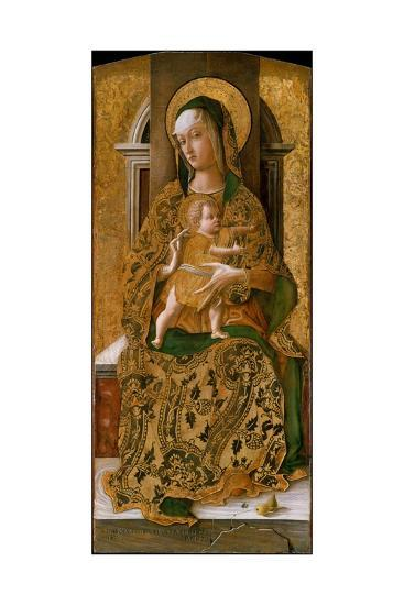 Madonna and Child Enthroned, 1472-Carlo Crivelli-Giclee Print