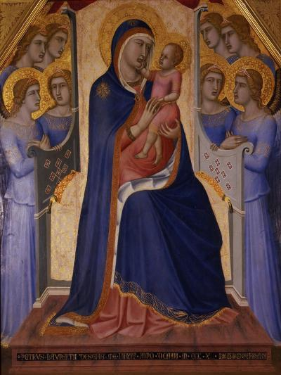 Madonna and Child Enthroned with Angels, 1340-Pietro Lorenzetti-Giclee Print