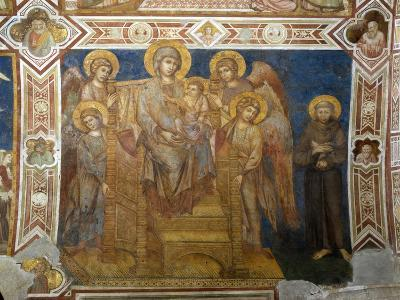 Madonna and Child Enthroned with Angels and St Francis of Assisi-Giovanni Cimabue-Giclee Print