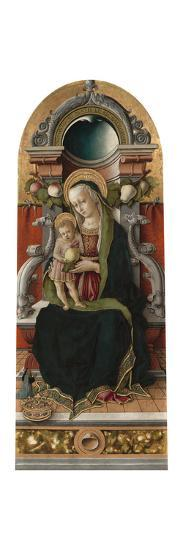 Madonna and Child Enthroned with Donor, 1470-Carlo Crivelli-Giclee Print