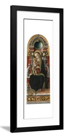 Madonna and Child Enthroned with Donor, 1470-Carlo Crivelli-Framed Giclee Print